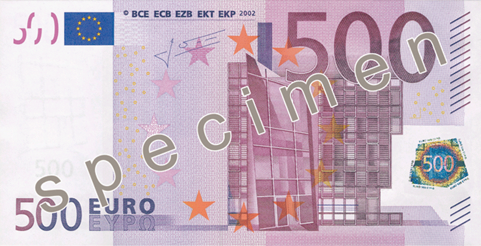 Five Hundred Euro Note