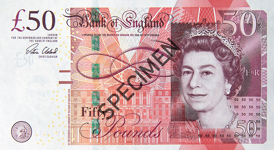 Fifty Pounds Banknote